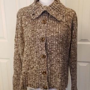 EUC-Sz M-L-Brown/White-Authentic Energie Sweater